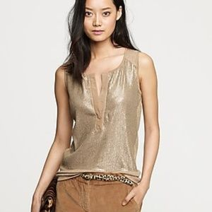 J Crew | Sequin Henley Shell Top